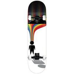 """Alien Workshop Skateboard Complete Silver Lining Wht 8.25"""" B"""