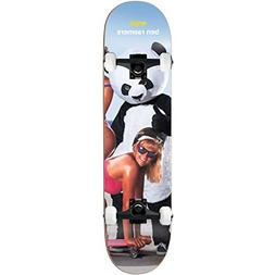 "Enjoi Skateboard Complete Slick Chicks Raemers 8.5"" Black tr"