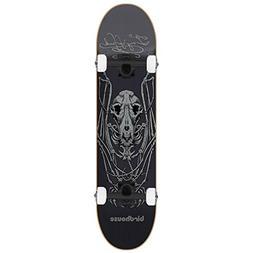 "BIRDHOUSE Skateboard Complete TONY HAWK BAT SKELETON 8.125"""