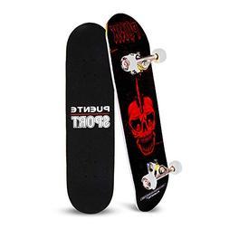 YF YOUFU Skateboard Complete, 31 Inch Pro Skateboards, Trick