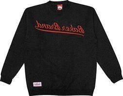 Baker Skateboard Crew Sweatshirt Script Black Sz M