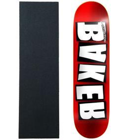 """BAKER Skateboard Deck BRAND LOGO FOIL 8.0"""" With Griptape"""