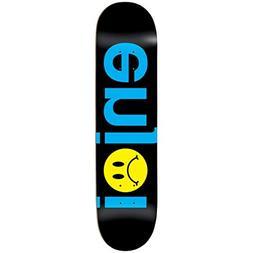 """Enjoi Skateboard Deck Frowny Face No Brainer Black 8.0"""""""