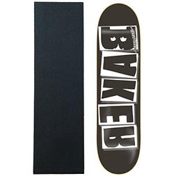 "Baker Skateboard Deck Logo Black/White 8.125"" with Jessup Gr"