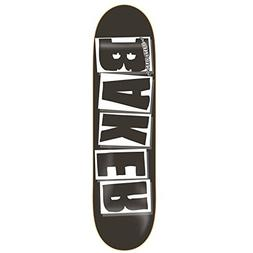 """Baker Skateboard Deck Logo Black/White 8.125"""""""