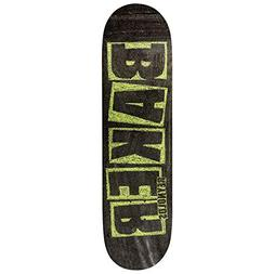 "Baker Skateboard Deck Reynolds Brand Name Chalk 7.75"""