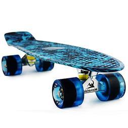 MEKETEC Skateboard Dog 22 inch Retro Mini Skateboards Kids B
