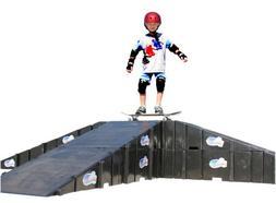 Landwave Skateboard Driveway Kit with 8 Ramps and 6 Decks
