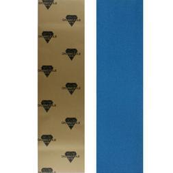 Black Diamond Skateboard Grip Tape Sheet Blue 9 in