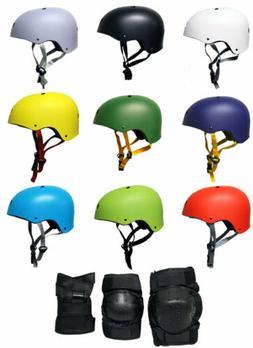 Skateboard Helmet Elbow/Knee/Wrist Pad Combo Bmx Inline ADUL