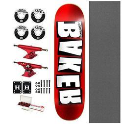 "Baker Skateboard Brand Logo Foil Red 8.0"" with Independent T"