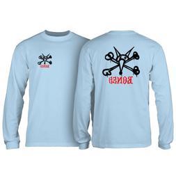 Powell Peralta Skateboard Long Sleeve Shirt Rat Bones Powder