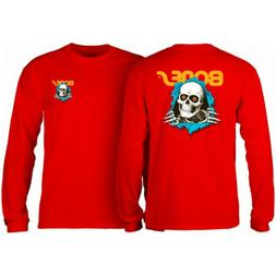 Powell Peralta Skateboard Long Sleeve Shirt Ripper Red