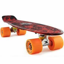 MEKETEC Skateboard Adults Mini Cruiser Complete Kids Skatebo