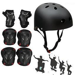 SymbolLife Skateboard / Skate Helmet with Protective Gear Kn