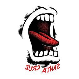 "SANTA CRUZ Skateboard Sticker SCREAMING MOUTH 3.5"""