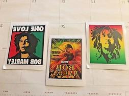 Skateboard Stickers, Bob Marley, Set Of Three, Free Shipping
