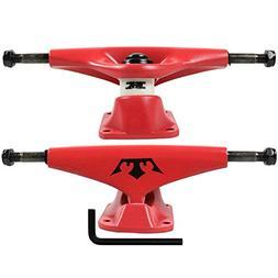 """Krown Skateboard Trucks 5.0"""" Red"""