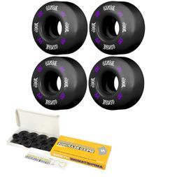 Bones Skateboard Wheels 55mm 100's V4 Wide Black 100a  / Hyb