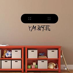 Skateboarder Wall Decal - Personalized Name with Skateboard