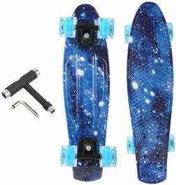Skateboards Complete 22 Inch Mini Cruiser Retro Skateboard w