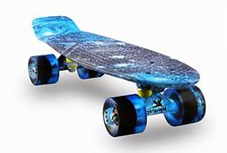 MEKETEC Skateboards Complete Mini Cruiser Retro Skateboard f