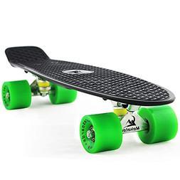 MEKETEC Skateboards Mini Cruiser 22 inch Retro Boy Kids Firs
