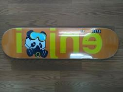 skateboards no brainer gas mask deck orange