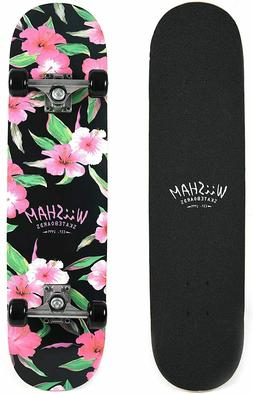 WiiSHAM Skateboards Pro 31 inches Complete Skateboard for Te