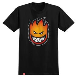 Spitfire Skateboards Shirt Bighead Fade Fill Black/Orange