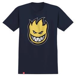 Spitfire Skateboards Shirt Bighead Fill Navy/Yellow