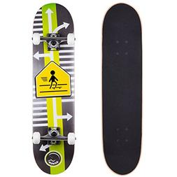 Cal 7 Skater Xing 7.5 Complete Skateboard, 52x31 99A PU