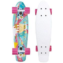 Cal 7 Complete Mini Cruiser Skateboard, 22 Inch Plastic in R