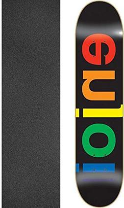 "Enjoi Skateboards Spectrum Black Skateboard Deck - 8.25"" x 3"