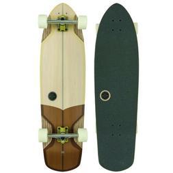 GLOBE HG Stubby V-Ply Skateboard, Off White/Brown