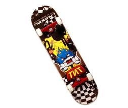 Punisher TNT Complete Skateboard,Yellow, 31-Inch