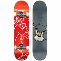 Almost Tom White Lines Youth Premium Complete Skateboard,Red