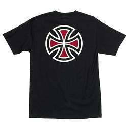 Independent Trucks BAR AND CROSS Skateboard Shirt BLACK XL