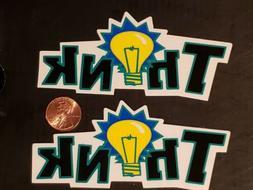 vintage skateboards stickers nos set of 2