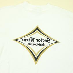 Vtg NOS Sector Nine 9 Skateboards T-Shirt LARGE USA Made Dia