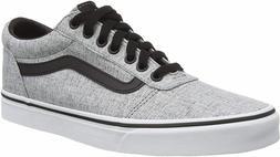 Vans Ward Textile Gray/White Men's Classic Skate Shoes Size