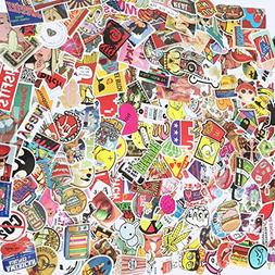 Sarahs 50 100 200 Pcs Waterproof Vinyl Stickers for Laptop,