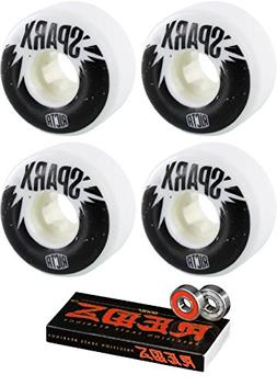 55mm Ricta Wheels Sparx Skateboard Wheels with Bones Bearing